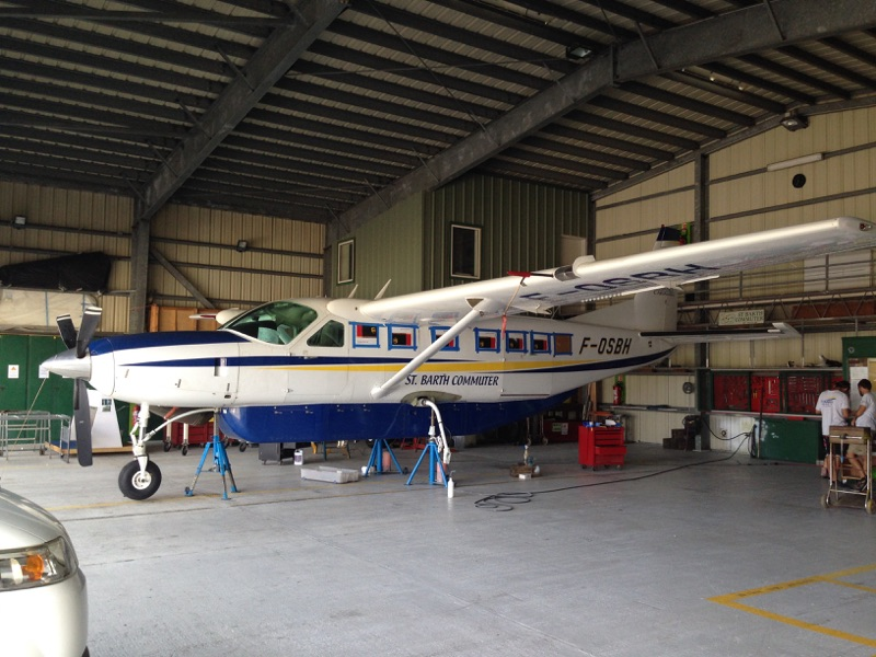 Propel visits St. Barth's Commuter to install APE STOL kits